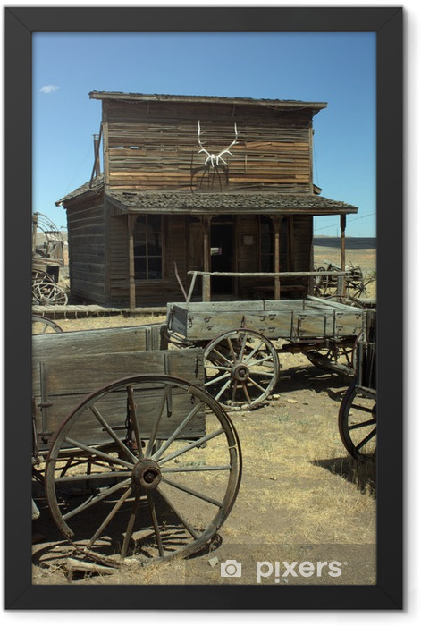 Wild West City Framed Poster - America