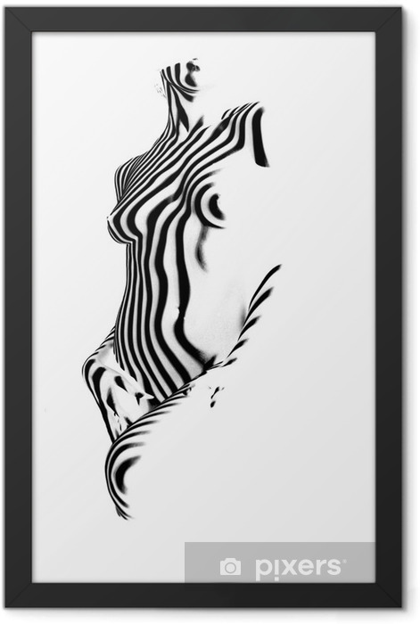 Póster Enmarcado Cebra - Temas