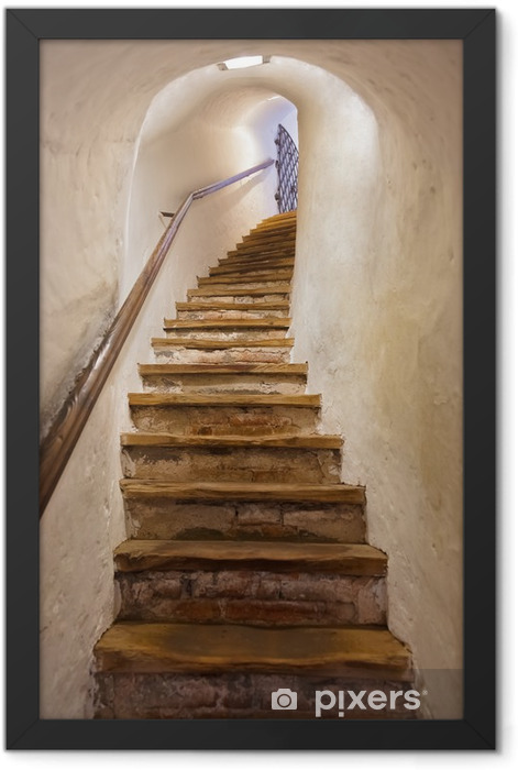 Stairs in Castle Kufstein - Austria Framed Poster - Styles