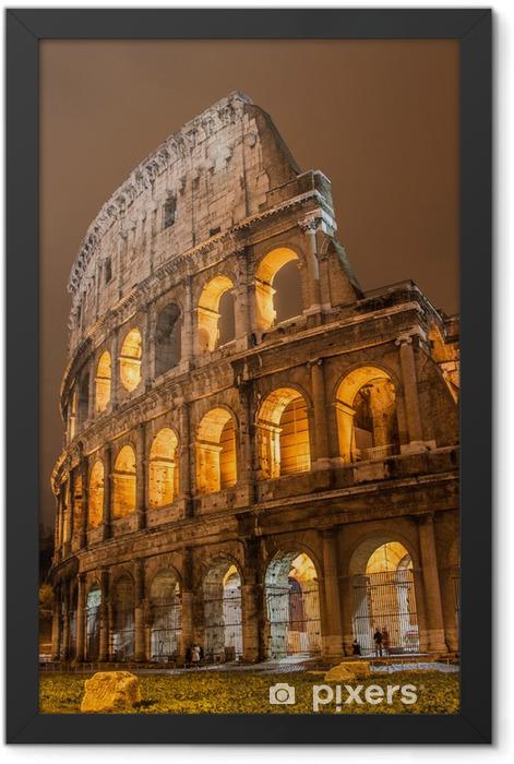 Plakat w ramie Koloseum w Rzymie, Włochy - Rzym