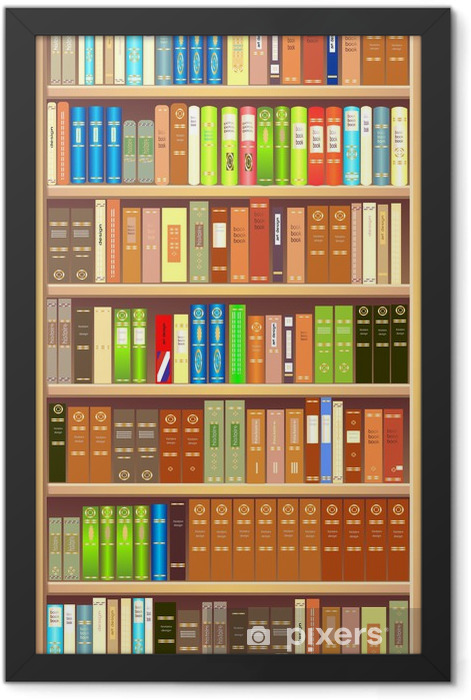 Bookcase Framed Poster - Library