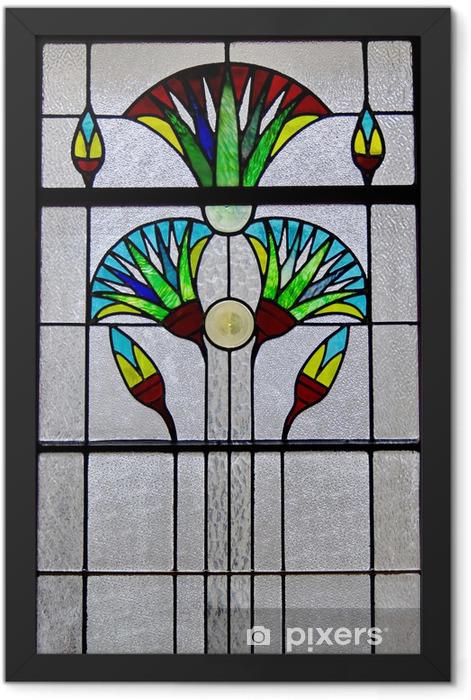 Plakat w ramie Okno Art Deco - Przemysł ciężki