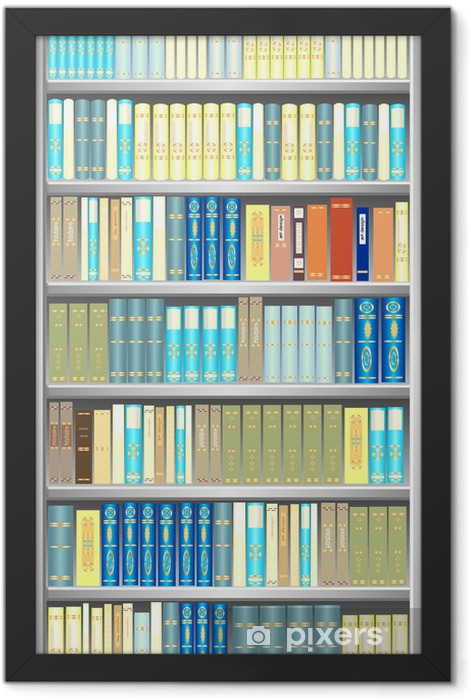 Plakat w ramie Regał Szary - Biblioteczka