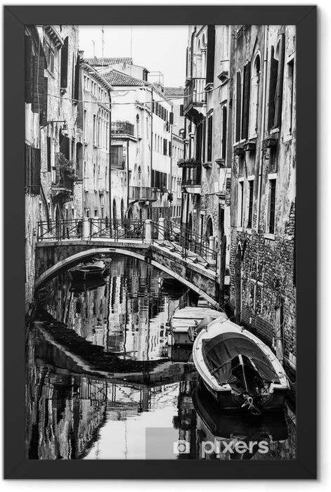 Plakat w ramie Wenecki kanał, Włochy - Tematy