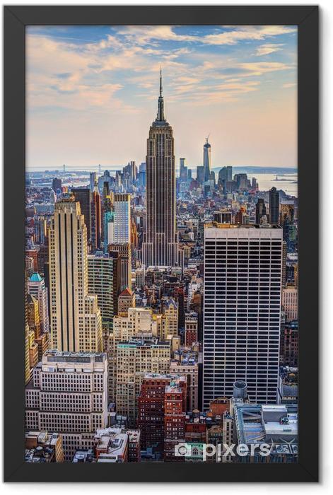 Plakat w ramie Nowy jork o zmierzchu -