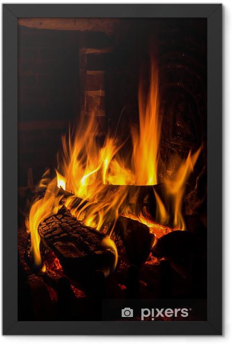 Poster en cadre Incendie dans une cheminée - Thèmes