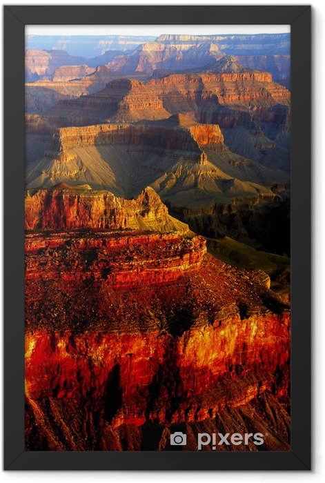 Grand Canyon colors Framed Poster - Mountains