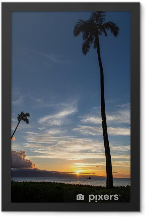 Hawaii - Tramonto a Maui Framed Poster - Themes