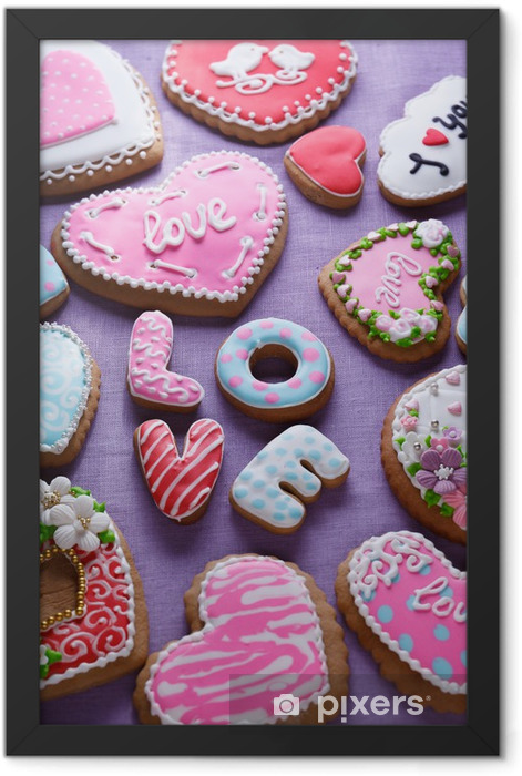 St. Valentine's cakes - Stock Image Framed Poster - Themes