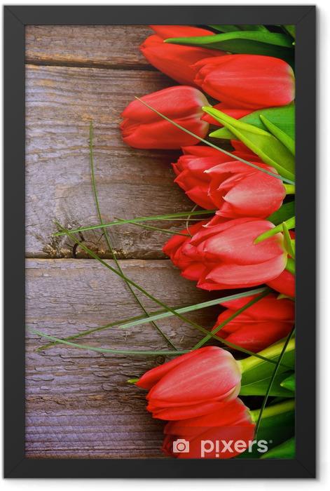 Plakat w ramie Czerwone tulipany - Tematy