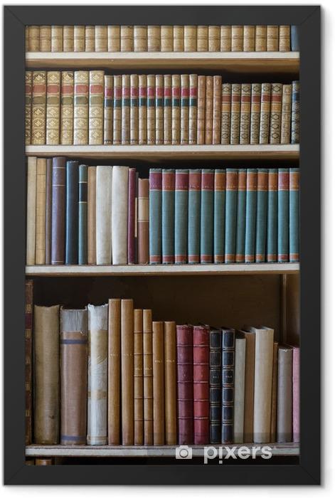 Plakat w ramie Stare książki - Biblioteczka