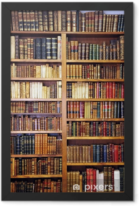 Old books, library Framed Poster - Library