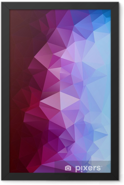 Abstract polygonal background. Framed Poster -