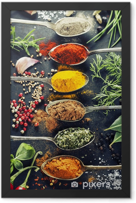 Herbs and spices selection Framed Poster - Herbs