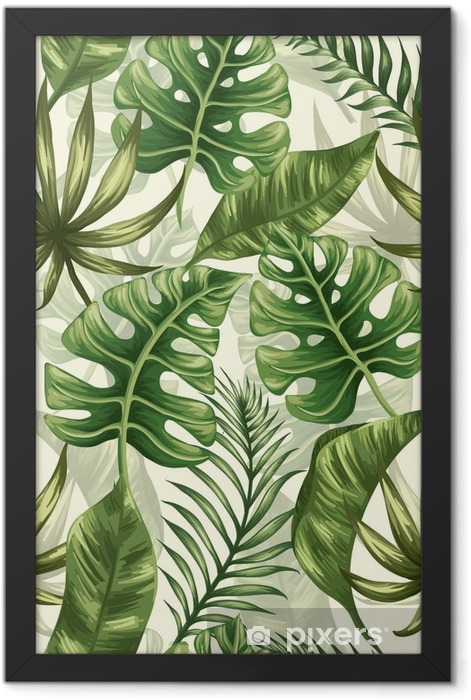 Leaves pattern Framed Poster - Plants and Flowers