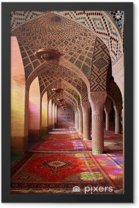 Mosquée Nasir-ol-Molk, Shiraz, Iran Framed Poster - Travel
