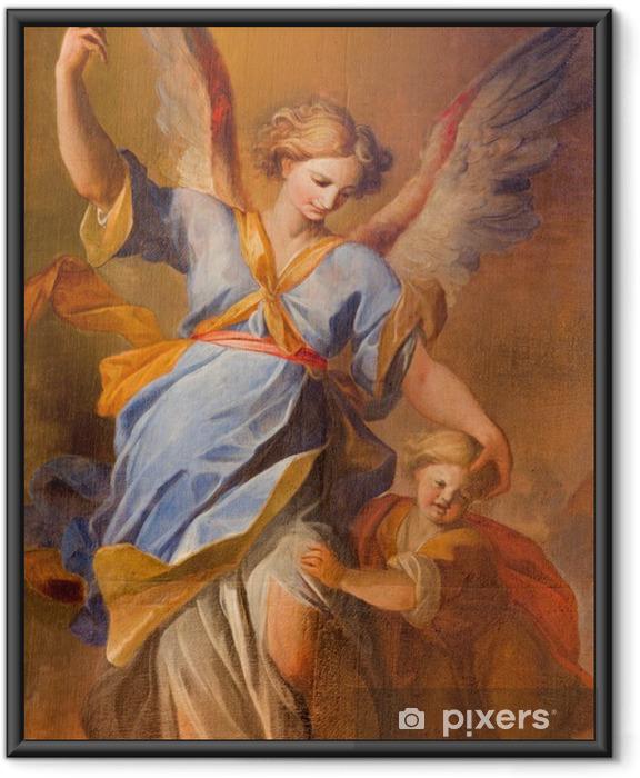 Plakat w ramie Vienna - ból anioł stróż w barokowym kościele jezuitów - Tematy
