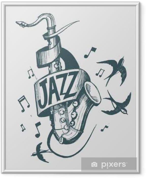 Jazz emblem Framed Picture - Hobbies and Leisure