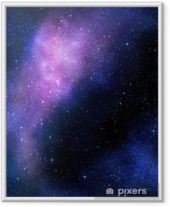 Póster Enmarcado Nebual estrellado profundo espacio exterior y la galaxia - Estrellas