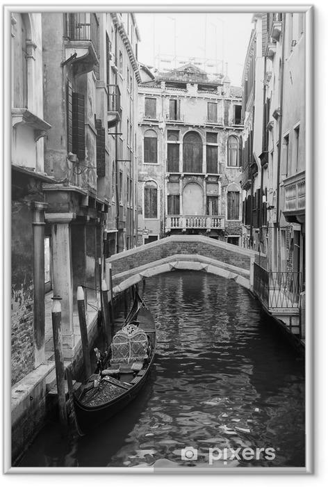Plakat w ramie Wenecja widok w czerni i bieli - Style