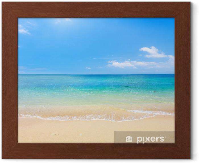 beach and tropical sea Framed Poster - Beach and tropics