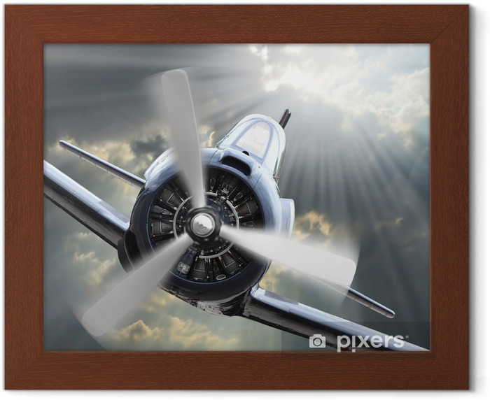 The Fighter. Retro technology theme. Framed Poster - Themes