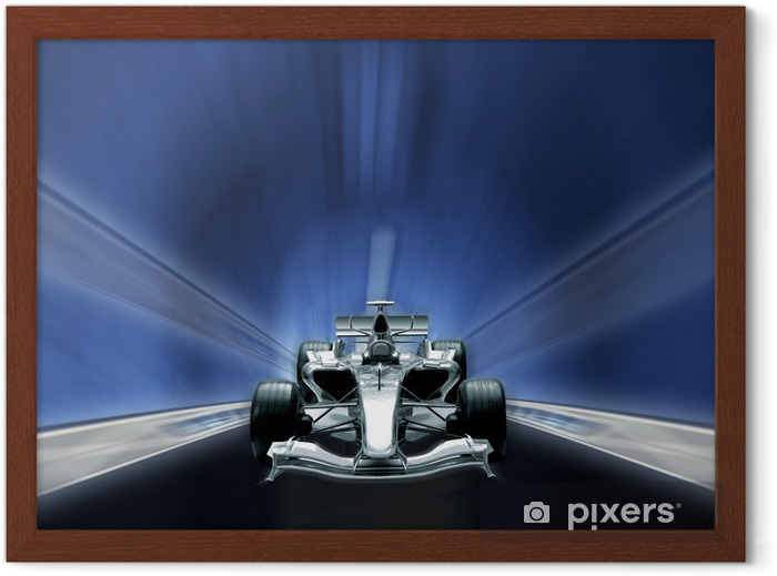 formula one, speed concept Framed Poster - Themes
