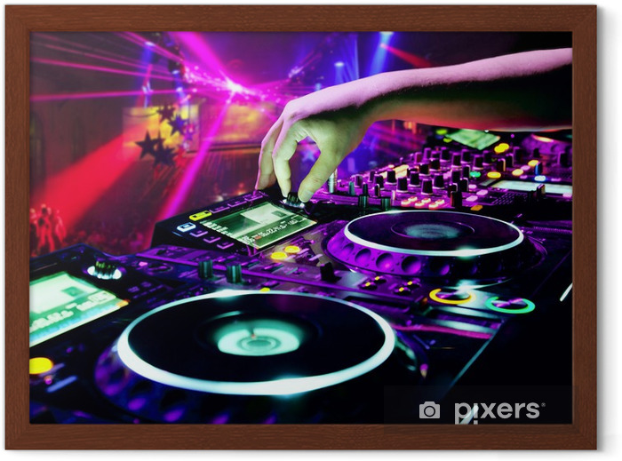 Dj mixes the track Framed Poster -