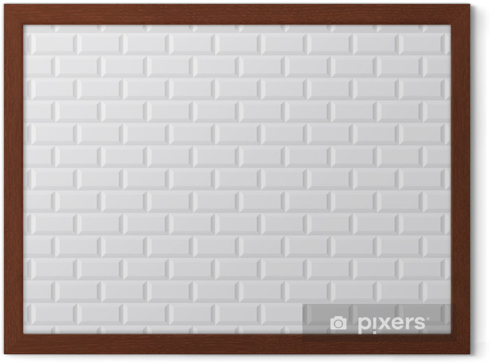 Ingelijste Poster CARRELAGE witte metro - Stijlen