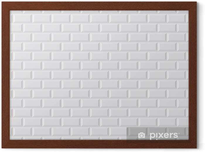 Poster en cadre CARRELAGE métro blanc - Styles