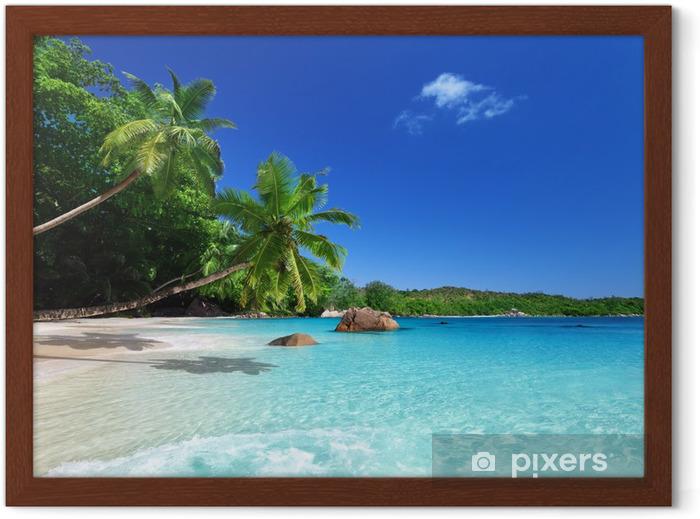 Plakat w ramie Plaża w Wyspa Praslin, Seszele - Tematy