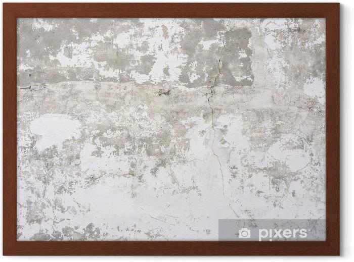 Ingelijste Poster Betonnen muur achtergrond - Thema's