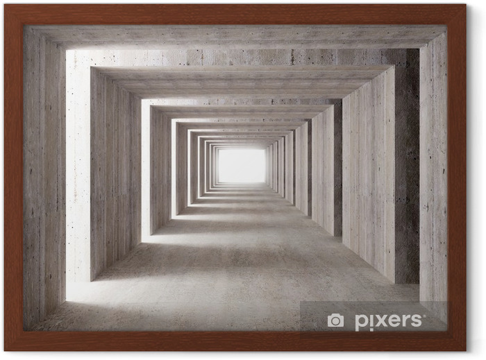 concrete tunnel and lateral lights Framed Poster - Styles