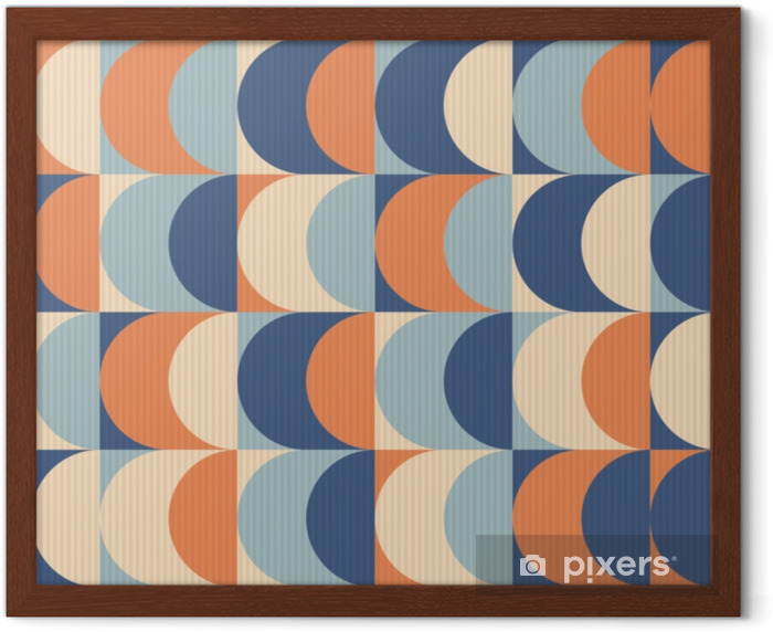 Saumaton vintage geometrinen kuvio Kehystetty juliste - Graafiset Resurssit