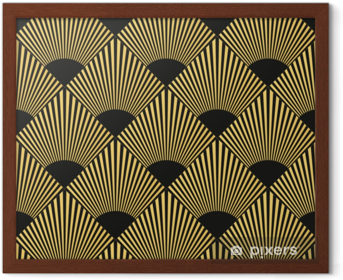 Art Deco seamless pattern Framed Picture - Graphic Resources