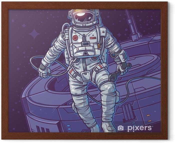 Póster Enmarcado Ilustración vectorial cosmonauta, - Recursos gráficos