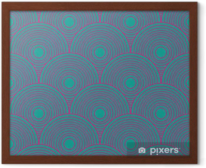 Póster Enmarcado Vintage patrón abstracto sin fisuras - Recursos gráficos