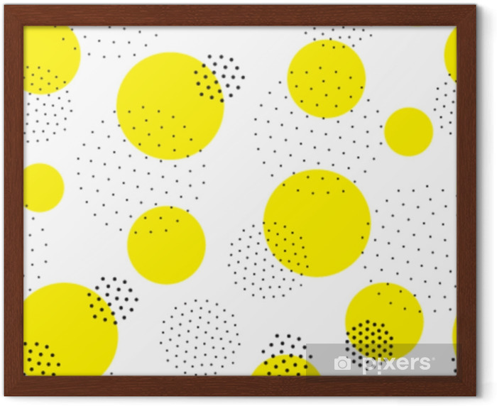Gerahmtes Poster Geometrisches nahtloses Muster - Grafische Elemente