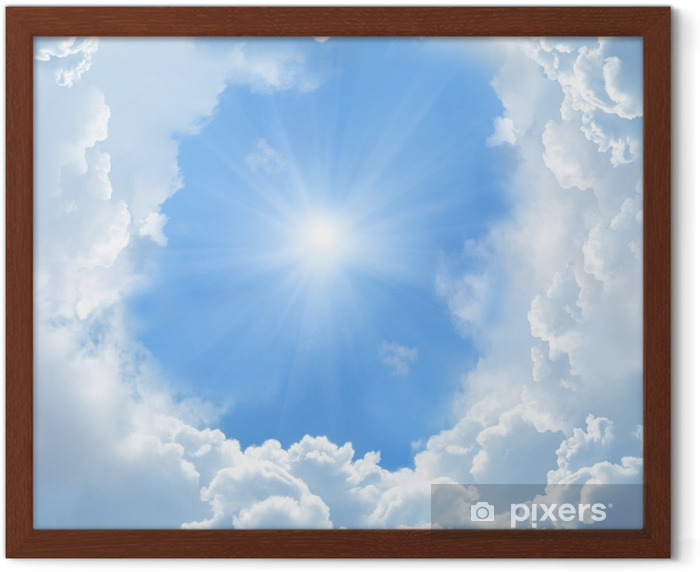 beautiful clouds Framed Poster - Themes