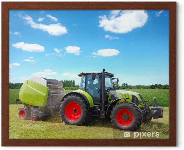 Çerçeveli Poster Traktor -