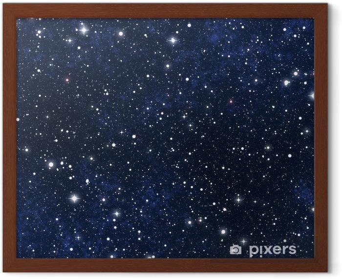 star filled night sky Framed Poster - Universe