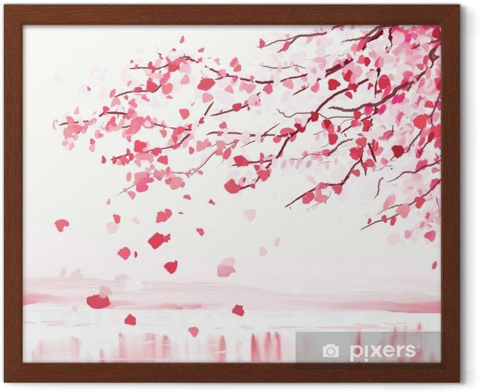 Poster en cadre Arbre cerisier japonais - Styles