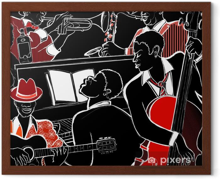 jazz band Framed Poster - Jazz