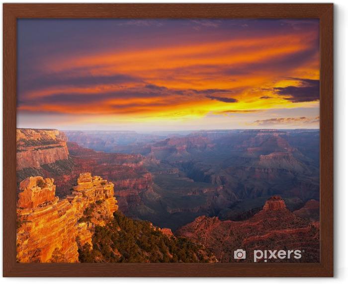 Póster Enmarcado Grand canyon - América