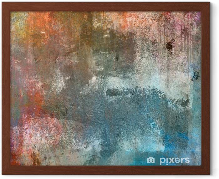 Poster in Cornice Grunge sfondo colorato - Temi