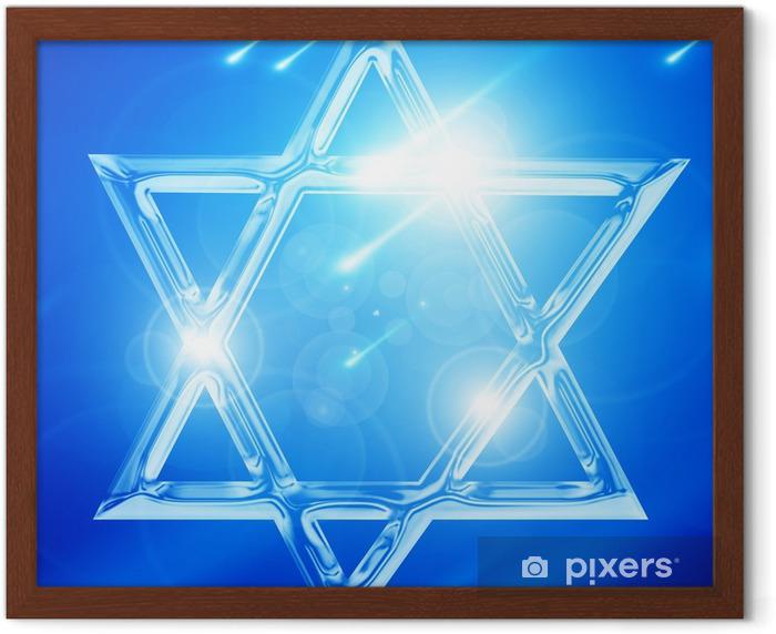 Star of David Framed Poster - Signs and Symbols