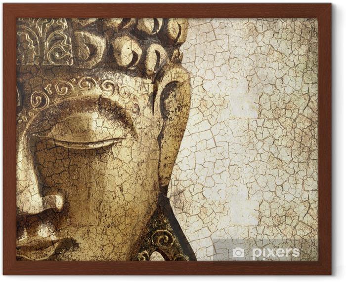 Poster en cadre Vieux Bouddha - Styles