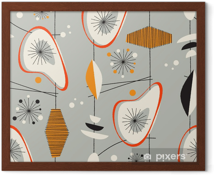 Seamless vintage pattern - Vector. Framed Poster - Shops