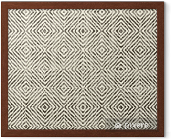 abstract geometric retro seamless background Framed Picture - Backgrounds