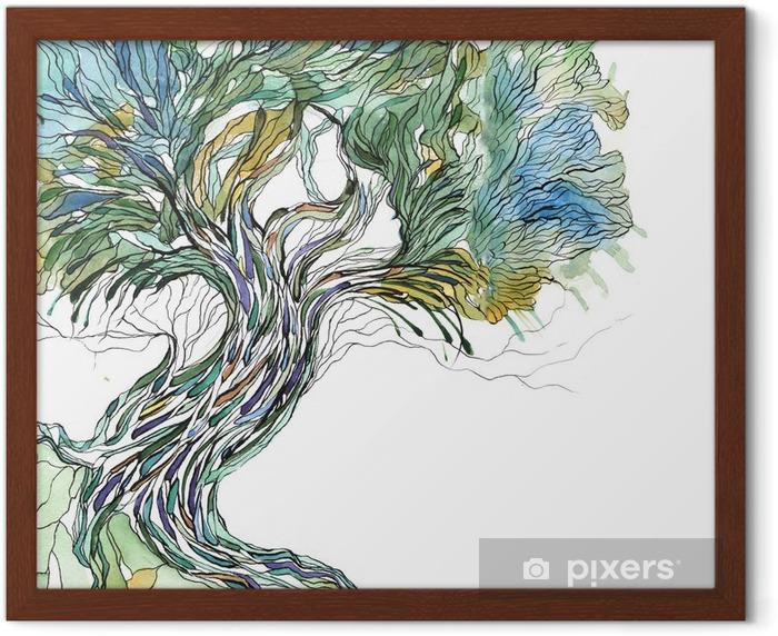 Plakat w ramie Stare drzewo - Nauka i natura